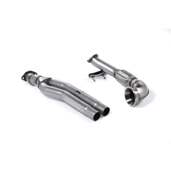 Milltek Race SSXAU593 Primary Catalyst Bypass Pipe and Turbo Elbow